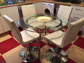 Ikea table & 4x John Lewis swivel chairs