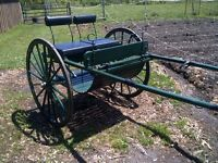 HAFLINGER/// HORSE MEADOW CART AND HARNESS