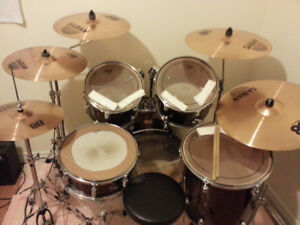 Perl Drums with Sabian Cymbals