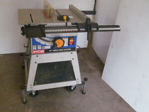 Ryobi 10 inch Table saw and bench