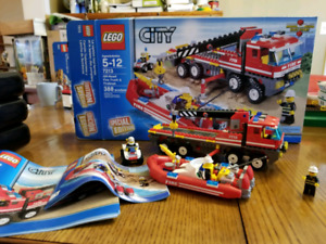 Lego city special edition off road fire truck and fireboat