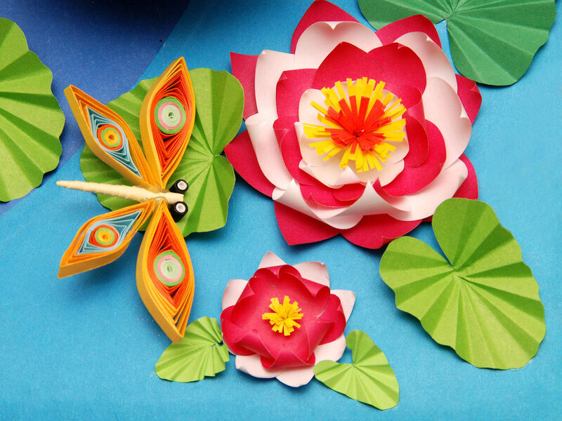 How To Make Flower Basket With Chart Paper : How to make a paper flower step by