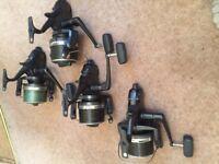 4x Shimano LC Reels & 3x Spare Spools