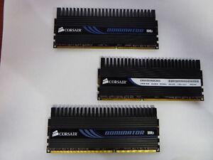 6GB 3 X 2GB kit Triple Channel Corsair Dominator DDR3 1600