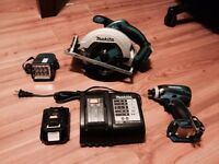 Three piece Makita set includes battery
