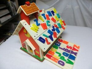 Fisher Price old School House - Vintage