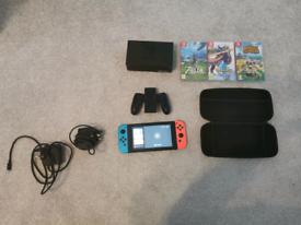 Nintendo switch battery optimised version plus 3 games