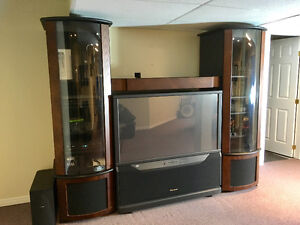 Big TV with cabinet