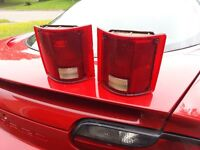 2 tail lights from a 85 chev truck