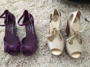 Jelly wedge shoes $10