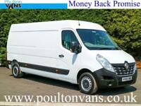 2015 (65) RENAULT MASTER LM35 BUSINESS L3 H2 LWB MEDIUM ROOF PANEL VAN