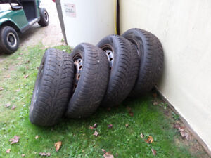 Snow tires for sale.