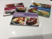 Three large softback Weightwatchers recipe books
