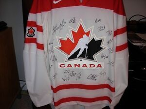 2009 World Junior Signed Authenic Gold Medal Jersey
