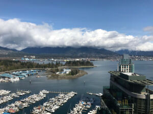 3 Bed + Den Luxurious Coal Harbour Downtown Ocean View Apartment