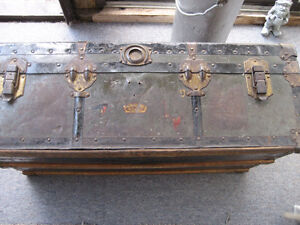 War Time Trunk/Dining Table/Chairs/Bookcase