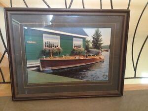 Cadre avec bateau antique