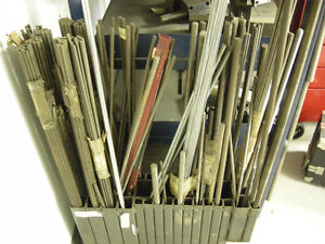 THREADED RODS METAL MACHINE SHOP OLD STOCK
