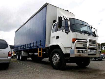 work with truck, isuzu 14 pallet 12t with 2 tonne tailgate
