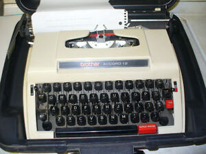 brother 12 1950s portable typewriter.working