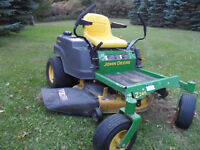 John Deere Zero Turn Riding Lawnmower, Like New Condition !!