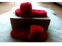 RED SHEEPSKIN UGG SLIPPERS SIZEUK 6.5 EU 39 NEW!