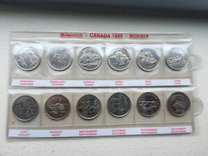 Collection de monnaie canadienne dans son étui