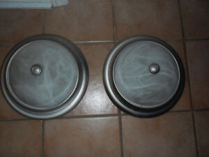 2 Round Dome Lights Excellent Shape