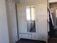 Beautiful shabby chic, up cycled, cream vintage wardrobe