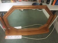 Dressing table top mirror.