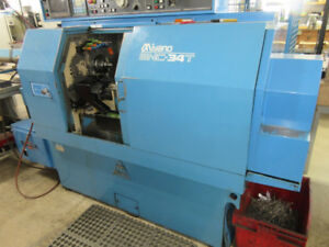 MIYANO BNC-34T CNC LATHE WITH 12' BAR FEED, FANUC CONTROL