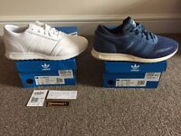 Adidas Trainers 2 x Pairs size 8 1 x brand new 1 x worn once