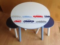 New wooden childrens table and chairs