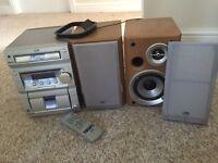 JVC Hifi and speaker system