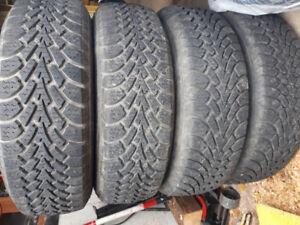 Goodyear Nordic Winter tire full set on rims