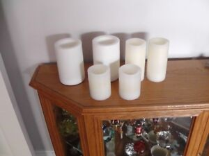 6 Battery operated candles three different sizes