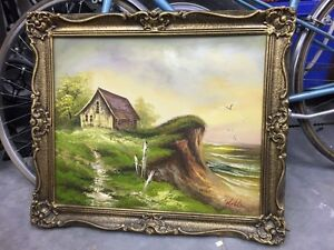 Stunning oil painting and frame!