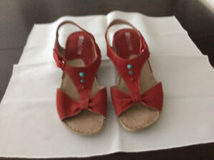 Sandales rouge