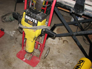 BOSCH / BRUTE JACKHAMMER IN GREAT SHAPE WITH BITS AND CART
