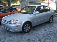 2003 Hyundai Accent Low KM, good cond.