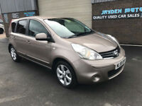 2009 59 NISSAN NOTE 1.6 N-TEC MANUAL , LOW MILEAGE WARRANTED