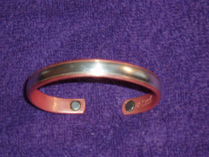 MAGNETIC STERLING SILVER IN COPPER BRACELET West Island Greater Montréal image 2