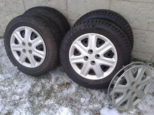 Winter Tires on Steel Rims (x4) – 4x100mm Bolt Pattern