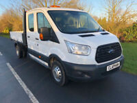 2016 16 FORD TRANSIT TIPPER 350 2.2TDCI 125BHP D/C L3 H1 1 OWNER ANY UK DELIVERY