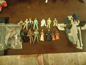 Star wars assorted figures and vehicles