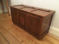 Oak coffer trunk coffee table chest blanket box wooden vintage