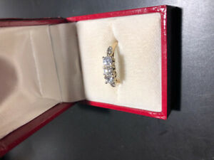 Engagement 14k yellow gold diamond ring appraised
