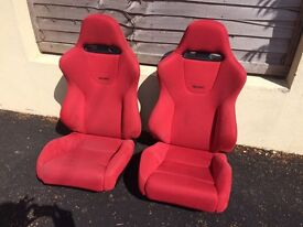 Red recaro car seats. JDM EP3 civic type R
