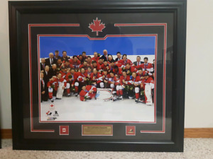 "2014 Team Canada Olympic Gold Medal Champions Plaque  26""×30"""