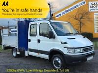 2006/56 Iveco Daily 3.0 50c14 D/Cab Dropside + T/Lift Tool box [ Low Mileage ]